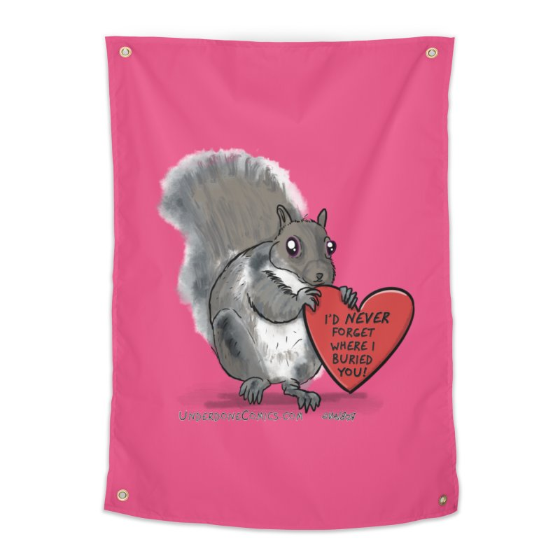 ValentineSquirrel Home Tapestry by The Underdone Comics Shop