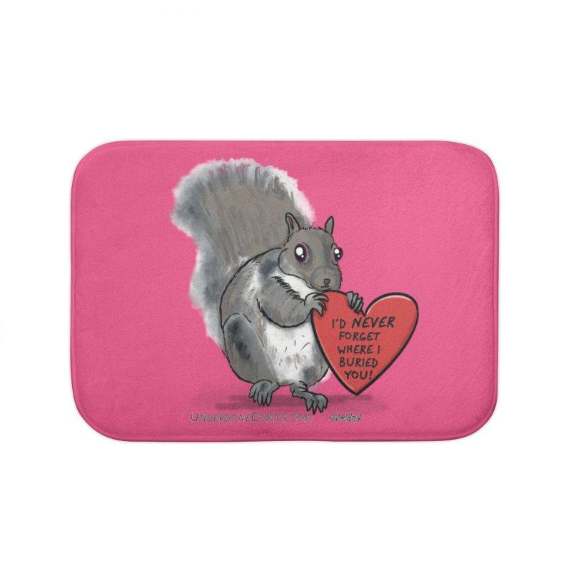 ValentineSquirrel Home Bath Mat by The Underdone Comics Shop