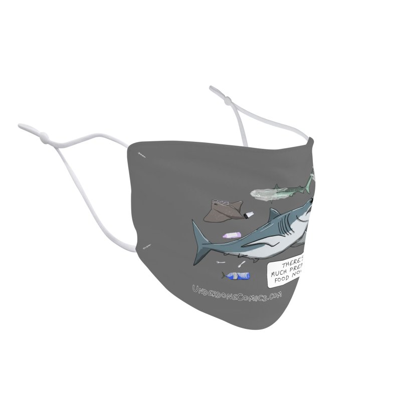 Plastic Pollution Shark Accessories Face Mask by The Underdone Comics Shop