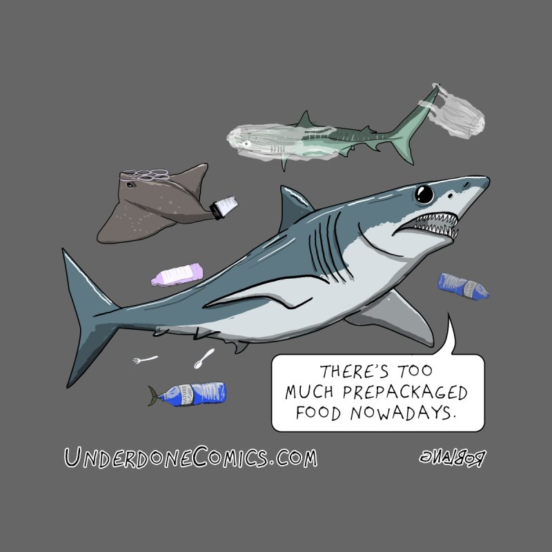 Plastic Pollution Shark Women's T-Shirt by The Underdone Comics Shop