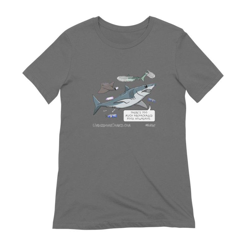 Plastic Pollution Shark Women's T-Shirt by The Underdone Comics Shop