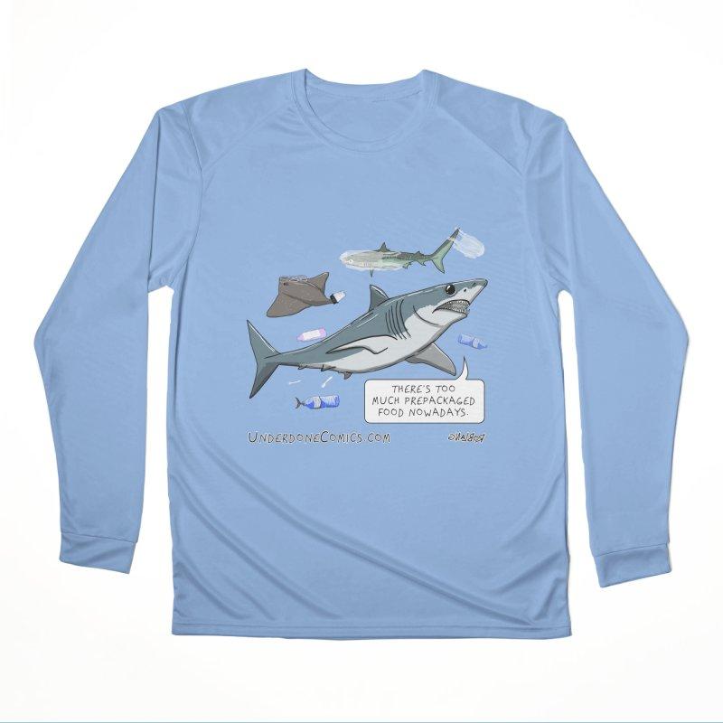 Plastic Pollution Shark Women's Longsleeve T-Shirt by The Underdone Comics Shop