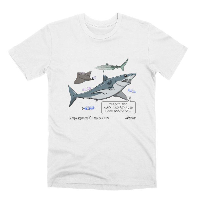 Plastic Pollution Shark Men's T-Shirt by The Underdone Comics Shop