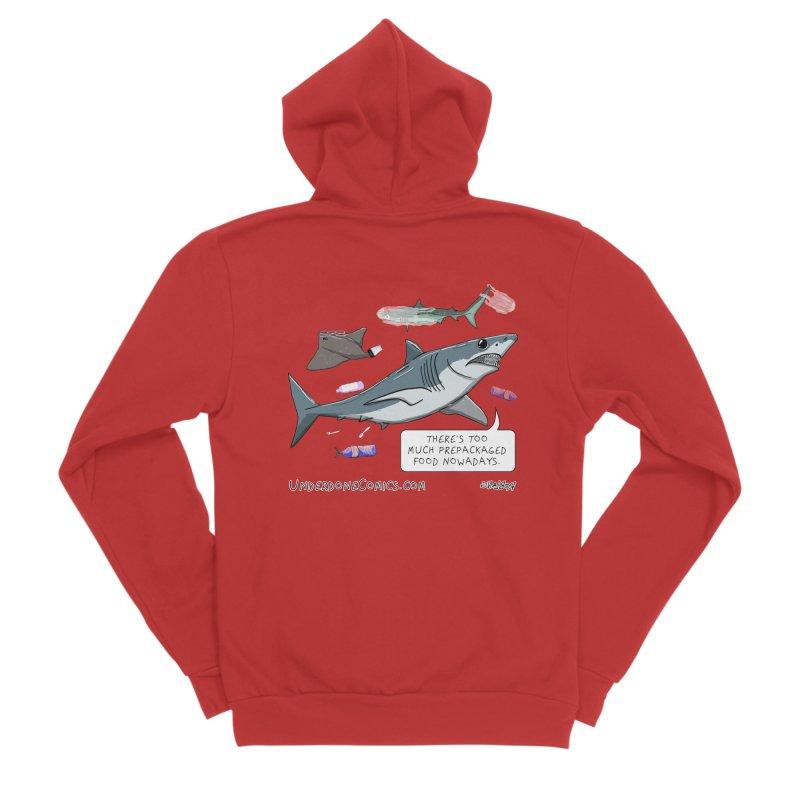Plastic Pollution Shark Women's Zip-Up Hoody by The Underdone Comics Shop