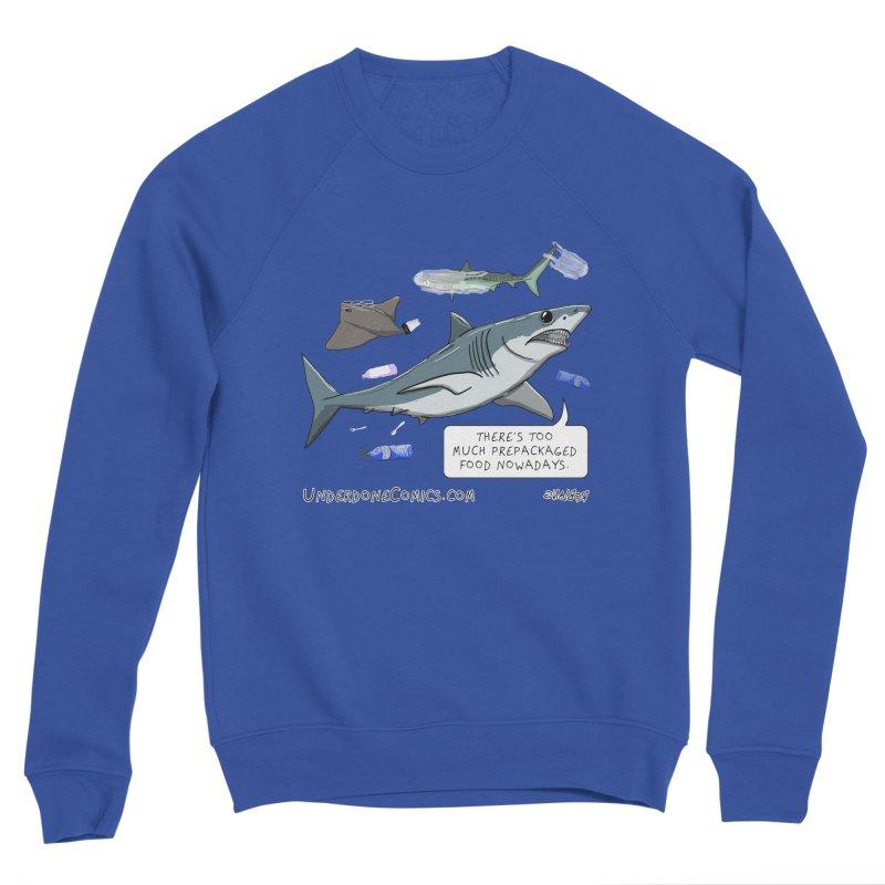 Plastic Pollution Shark Women's Sweatshirt by The Underdone Comics Shop