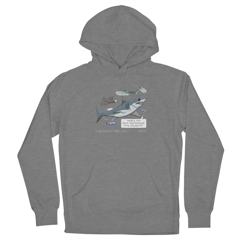 Plastic Pollution Shark Women's Pullover Hoody by The Underdone Comics Shop