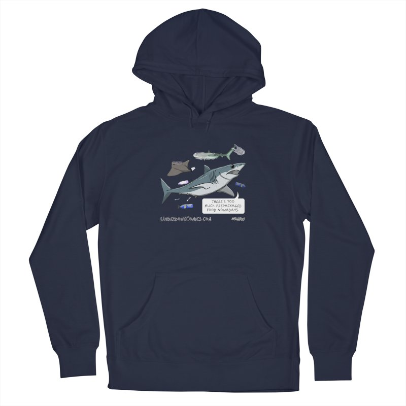 Plastic Pollution Shark Men's Pullover Hoody by The Underdone Comics Shop
