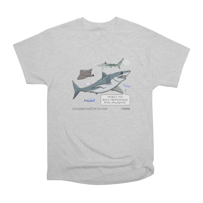 Plastic Pollution Shark Men's T-Shirt by The Underdone Comics Shop