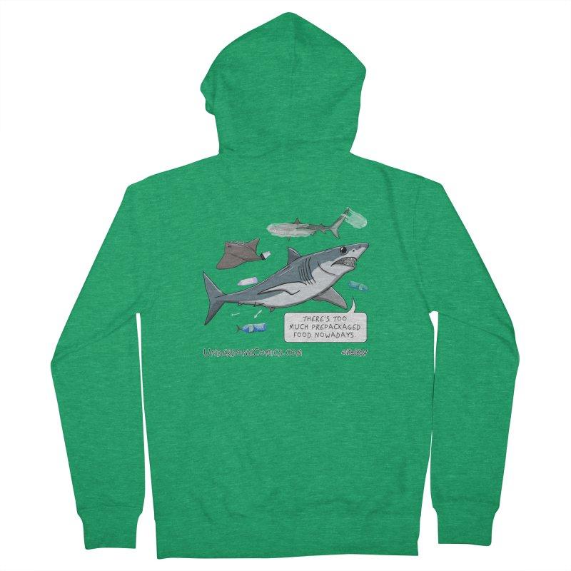 Plastic Pollution Shark Men's Zip-Up Hoody by The Underdone Comics Shop