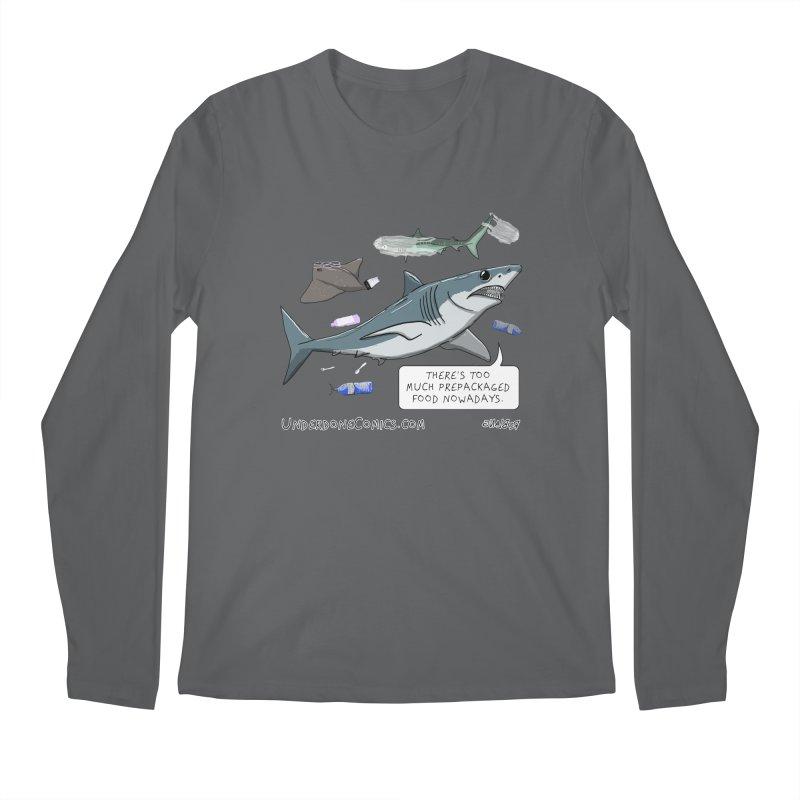 Plastic Pollution Shark Men's Longsleeve T-Shirt by The Underdone Comics Shop