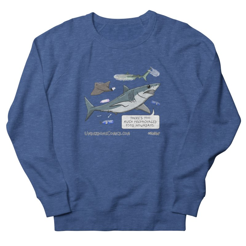 Plastic Pollution Shark Men's Sweatshirt by The Underdone Comics Shop