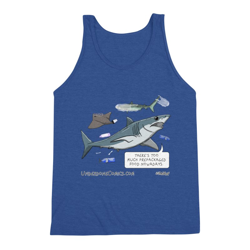 Plastic Pollution Shark Men's Tank by The Underdone Comics Shop