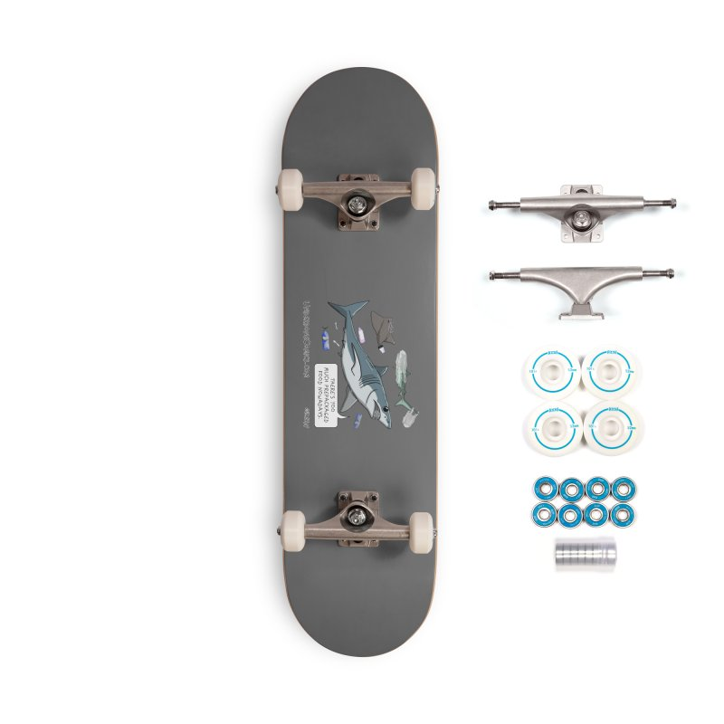 Plastic Pollution Shark Accessories Skateboard by The Underdone Comics Shop