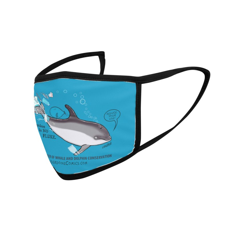 Plastic Pollution is NO FLUKE Accessories Face Mask by The Underdone Comics Shop