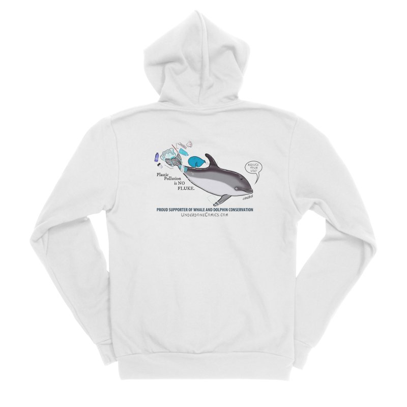 Plastic Pollution is NO FLUKE Women's Zip-Up Hoody by The Underdone Comics Shop