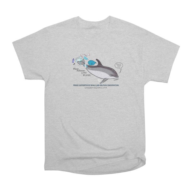 Plastic Pollution is NO FLUKE Men's T-Shirt by The Underdone Comics Shop