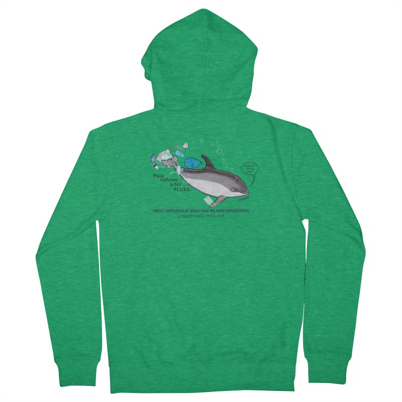 Plastic Pollution is NO FLUKE Men's Zip-Up Hoody by The Underdone Comics Shop