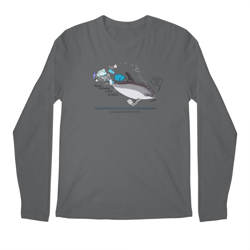 Plastic Pollution is NO FLUKE Men's Longsleeve T-Shirt by The Underdone Comics Shop