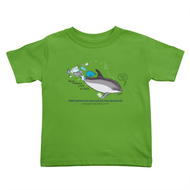 Plastic Pollution is NO FLUKE Kids Toddler T-Shirt by The Underdone Comics Shop