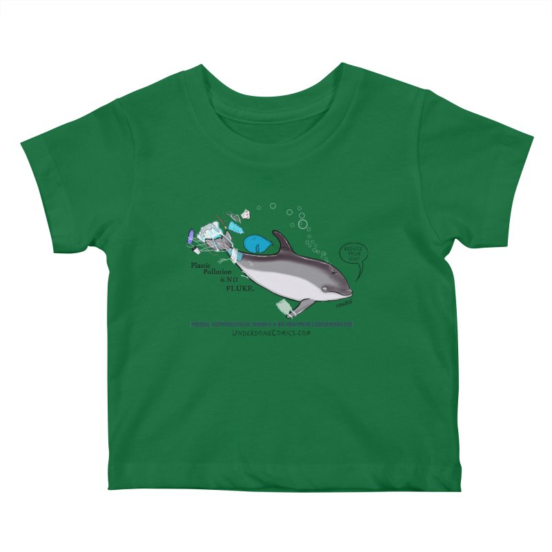 Plastic Pollution is NO FLUKE Kids Baby T-Shirt by The Underdone Comics Shop