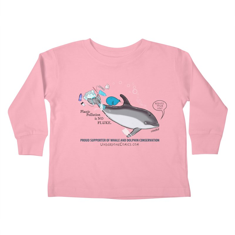 Plastic Pollution is NO FLUKE Kids Toddler Longsleeve T-Shirt by The Underdone Comics Shop