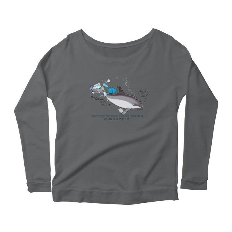 Plastic Pollution is NO FLUKE Women's Longsleeve T-Shirt by The Underdone Comics Shop