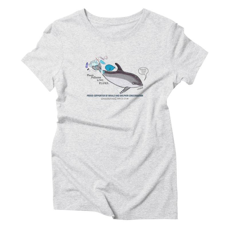 Plastic Pollution is NO FLUKE Women's T-Shirt by The Underdone Comics Shop