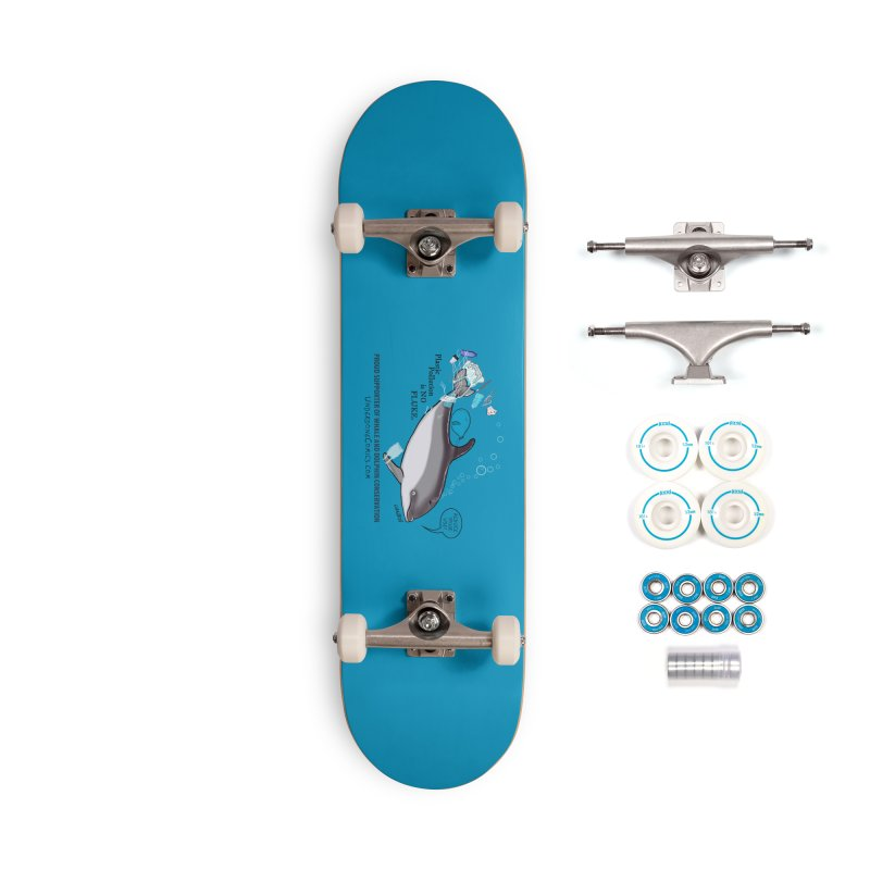 Plastic Pollution is NO FLUKE Accessories Skateboard by The Underdone Comics Shop