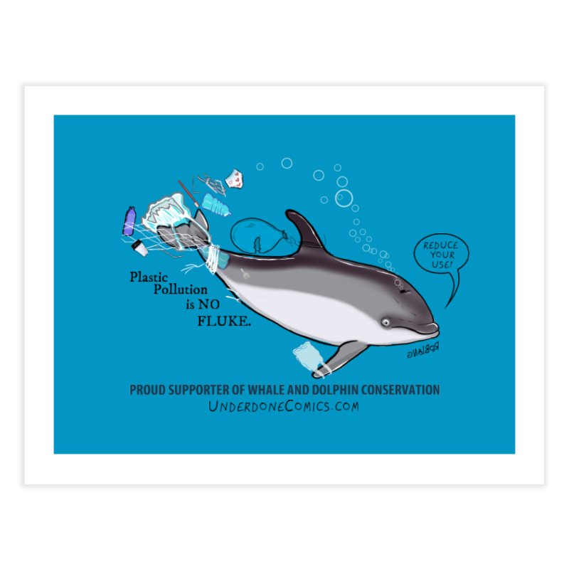 Plastic Pollution is NO FLUKE Home Fine Art Print by The Underdone Comics Shop