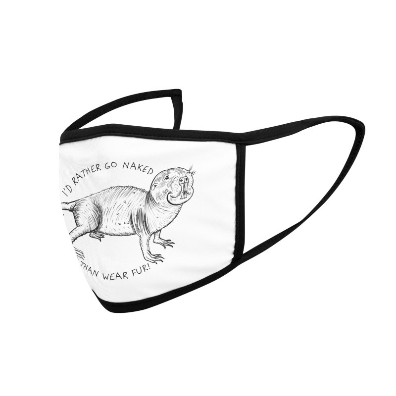 Naked Mole Rat Accessories Face Mask by The Underdone Comics Shop