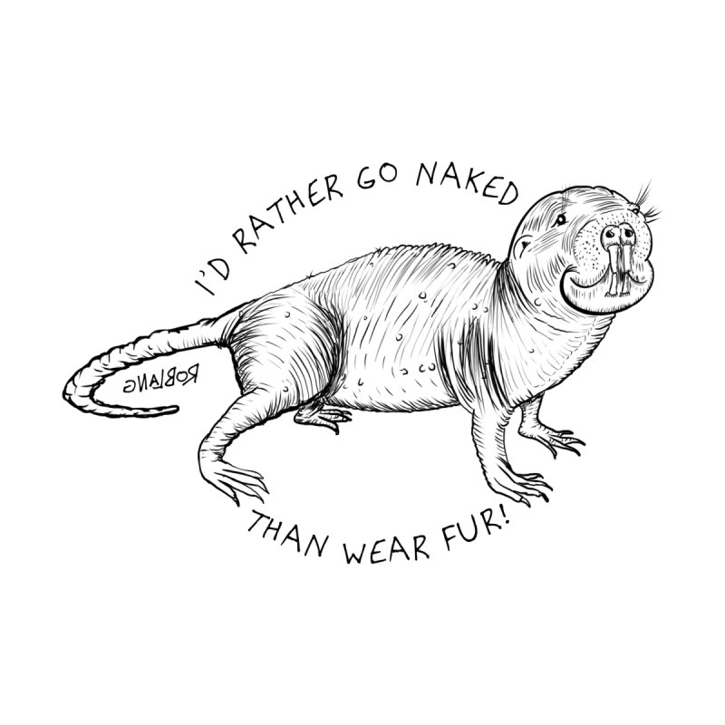 Naked Mole Rat Home Bath Mat by The Underdone Comics Shop