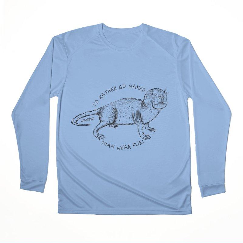 Naked Mole Rat Men's Longsleeve T-Shirt by The Underdone Comics Shop