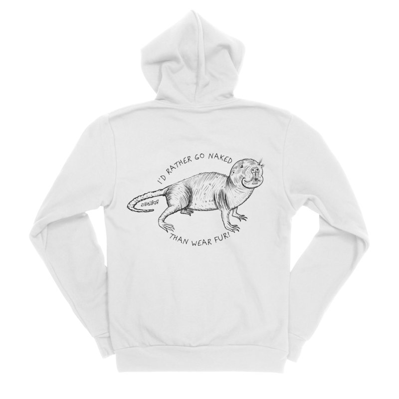 Naked Mole Rat Women's Zip-Up Hoody by The Underdone Comics Shop