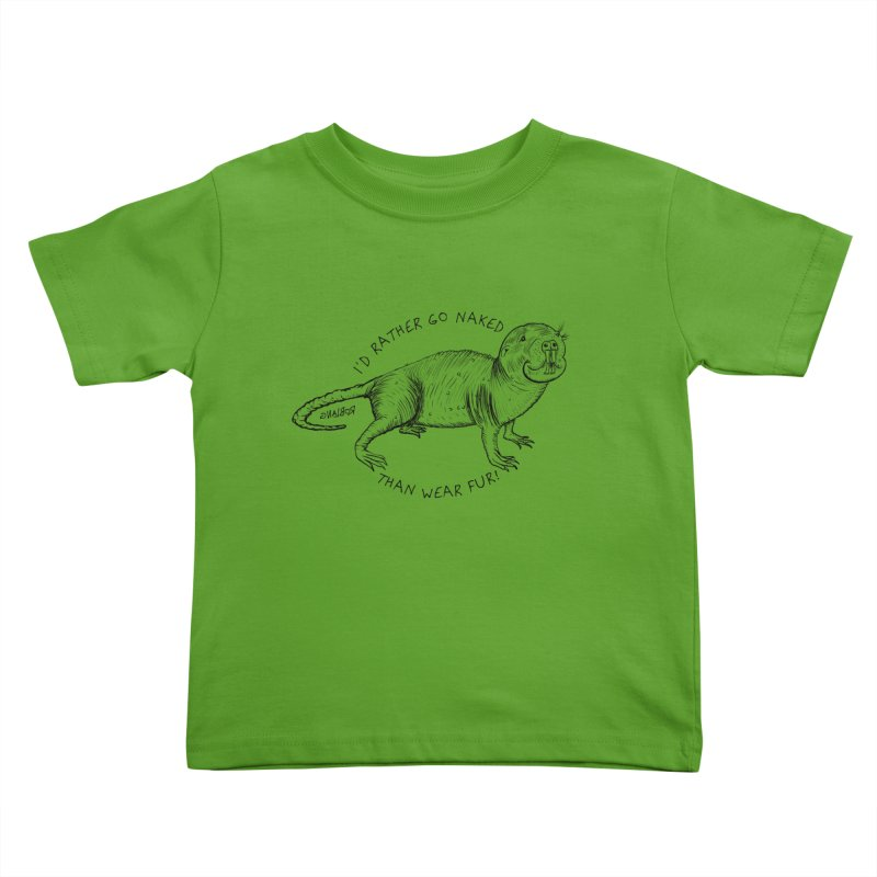 Naked Mole Rat Kids Toddler T-Shirt by The Underdone Comics Shop
