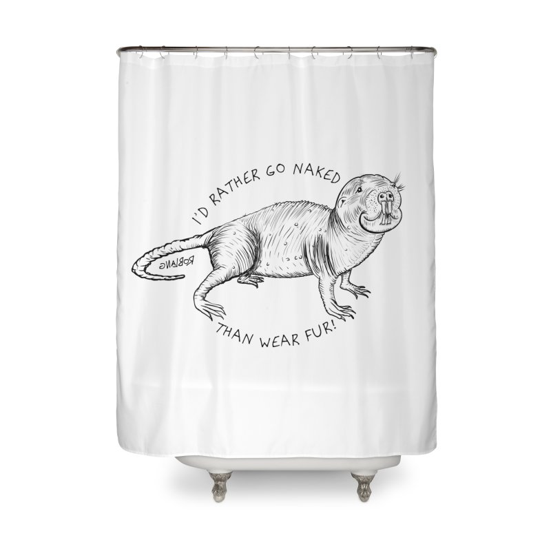 Naked Mole Rat Home Shower Curtain by The Underdone Comics Shop