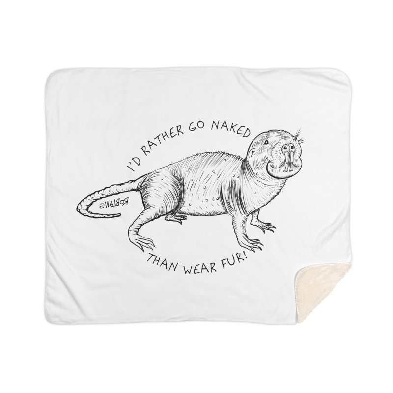 Naked Mole Rat Home Blanket by The Underdone Comics Shop