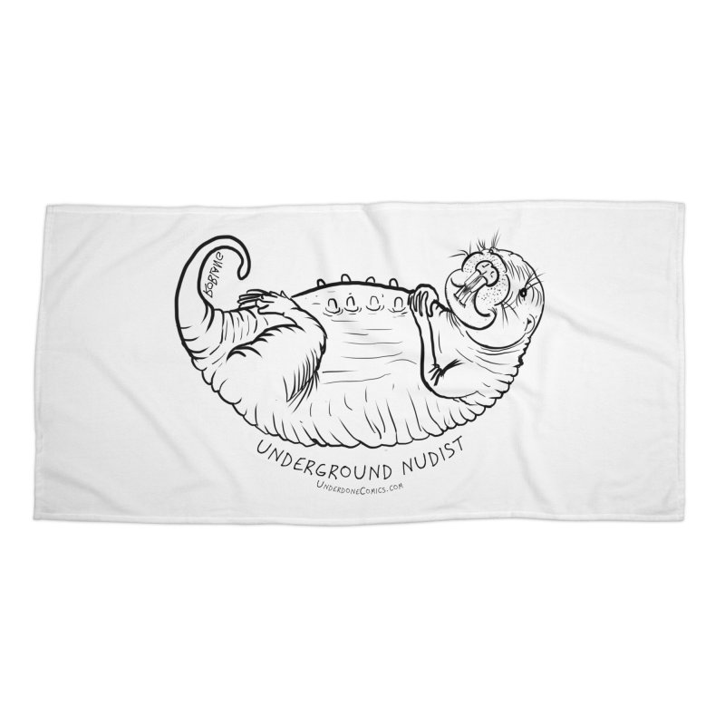 Naked Mole Rat Queen Accessories Beach Towel by The Underdone Comics Shop