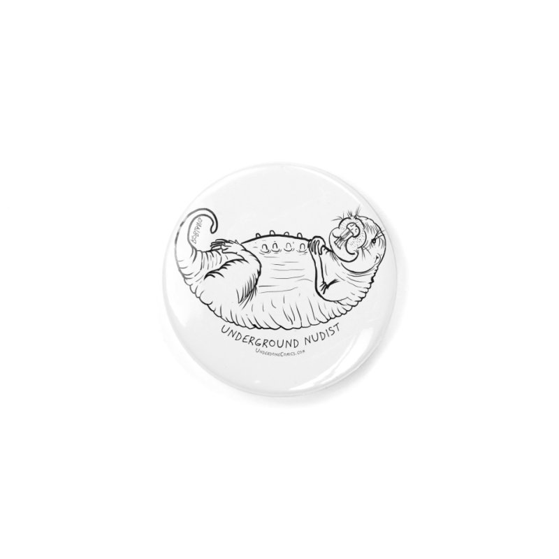 Naked Mole Rat Queen Accessories Button by The Underdone Comics Shop