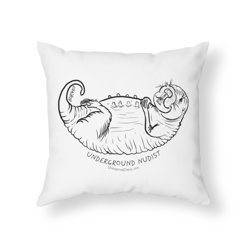 Naked Mole Rat Queen Home Throw Pillow by The Underdone Comics Shop