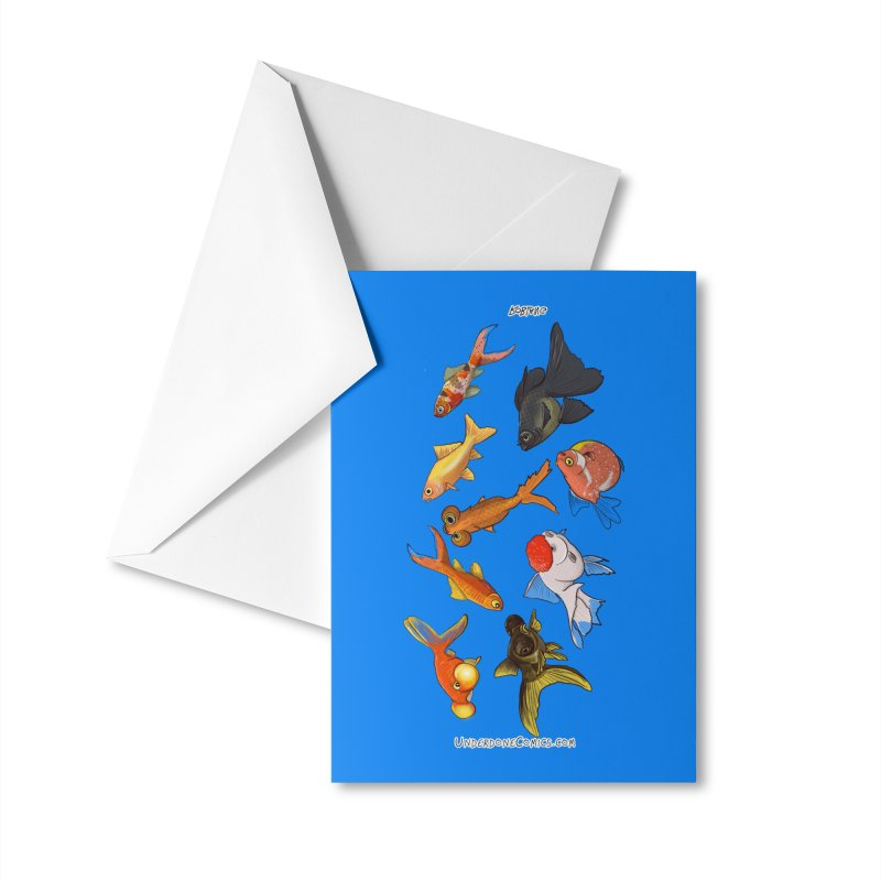 Some Fancy Goldfish Accessories Greeting Card by The Underdone Comics Shop
