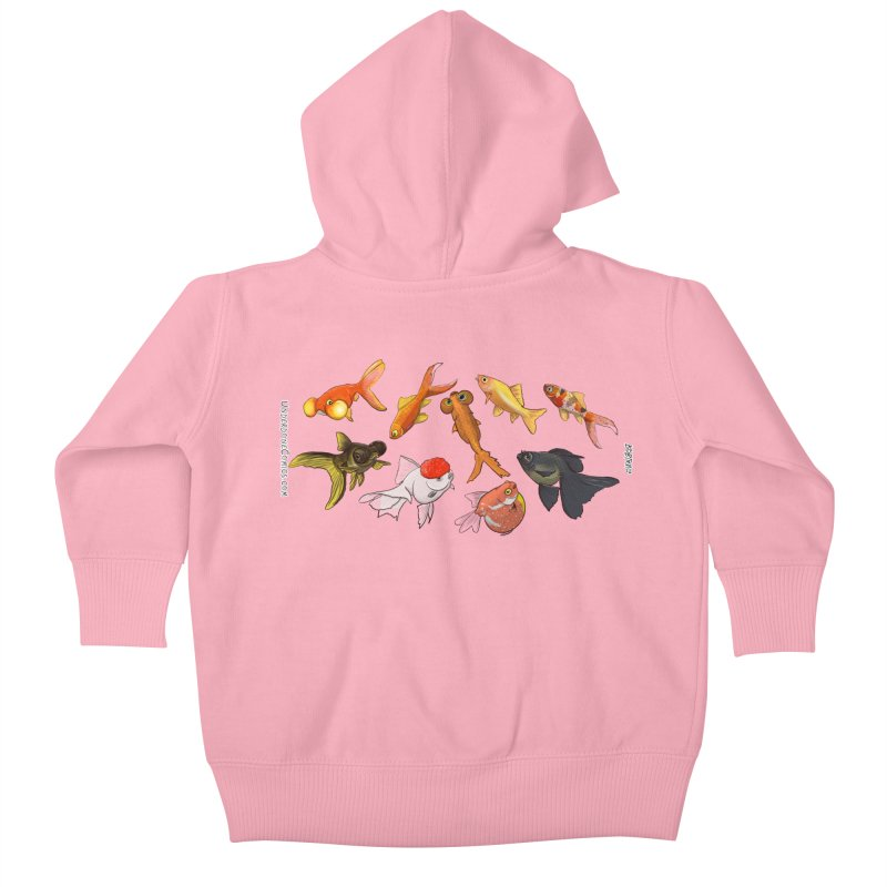 Some Fancy Goldfish Kids Baby Zip-Up Hoody by The Underdone Comics Shop