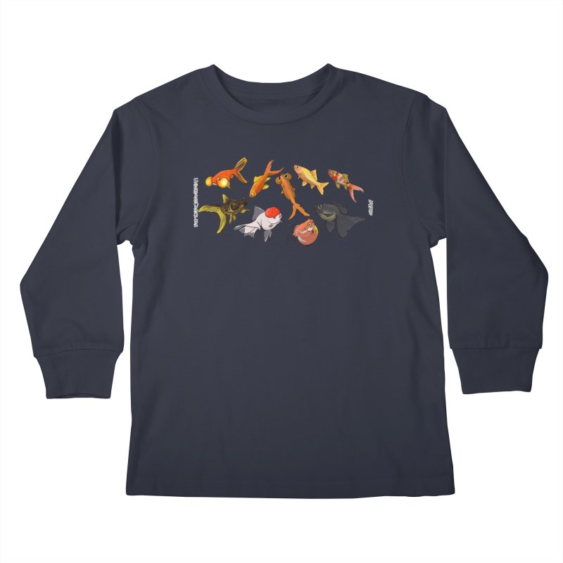 Some Fancy Goldfish Kids Longsleeve T-Shirt by The Underdone Comics Shop