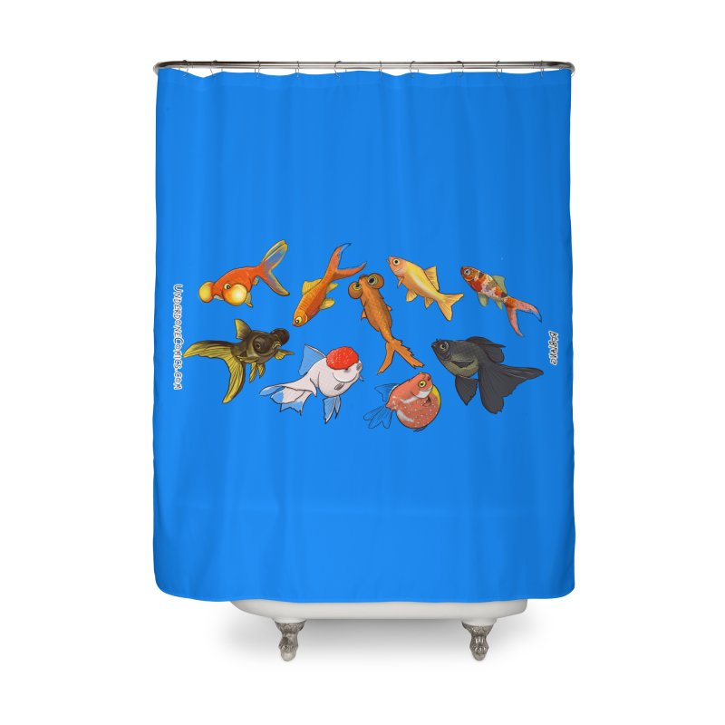 Some Fancy Goldfish Home Shower Curtain by The Underdone Comics Shop
