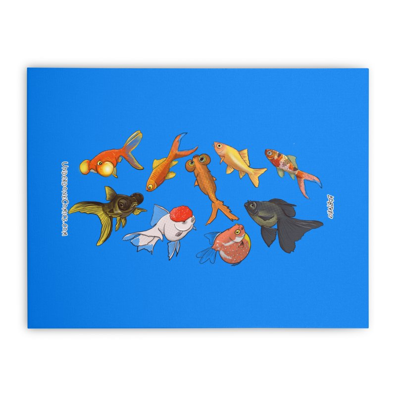 Some Fancy Goldfish Home Stretched Canvas by The Underdone Comics Shop