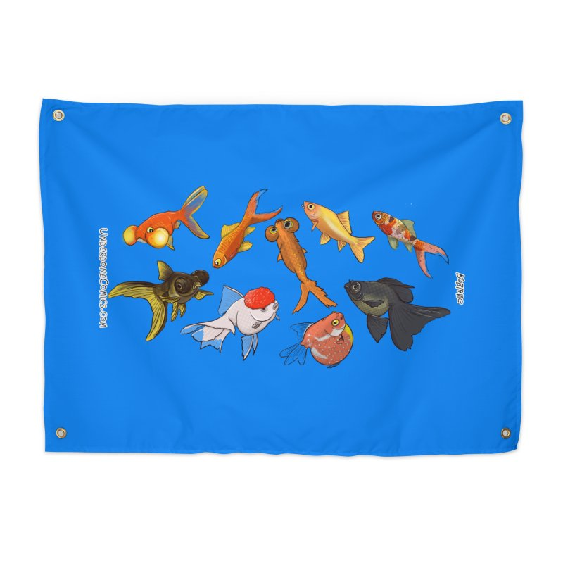 Some Fancy Goldfish Home Tapestry by The Underdone Comics Shop