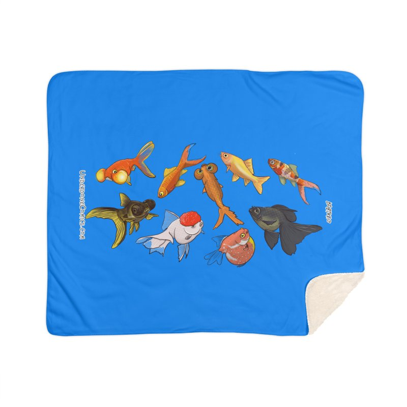 Some Fancy Goldfish Home Blanket by The Underdone Comics Shop