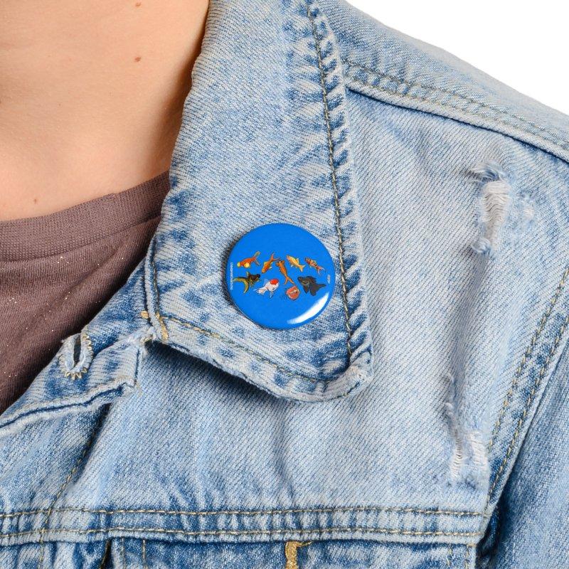 Some Fancy Goldfish Accessories Button by The Underdone Comics Shop