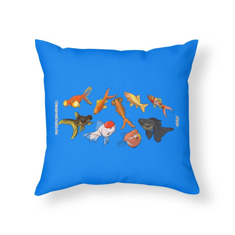 Some Fancy Goldfish Home Throw Pillow by The Underdone Comics Shop