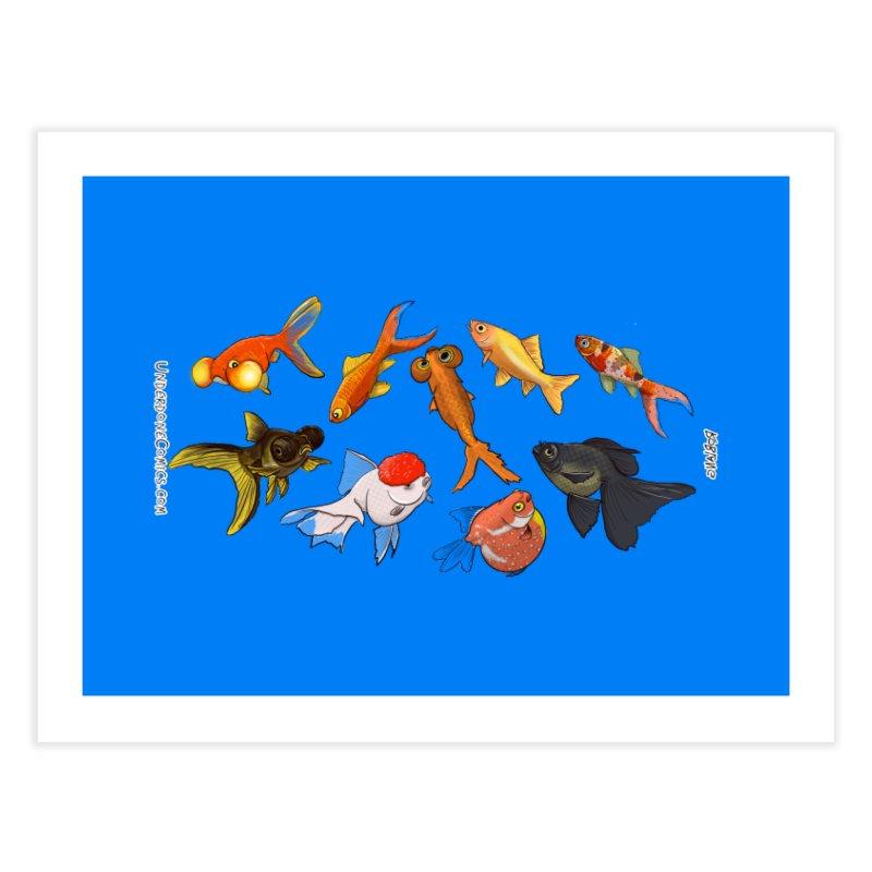 Some Fancy Goldfish Home Fine Art Print by The Underdone Comics Shop