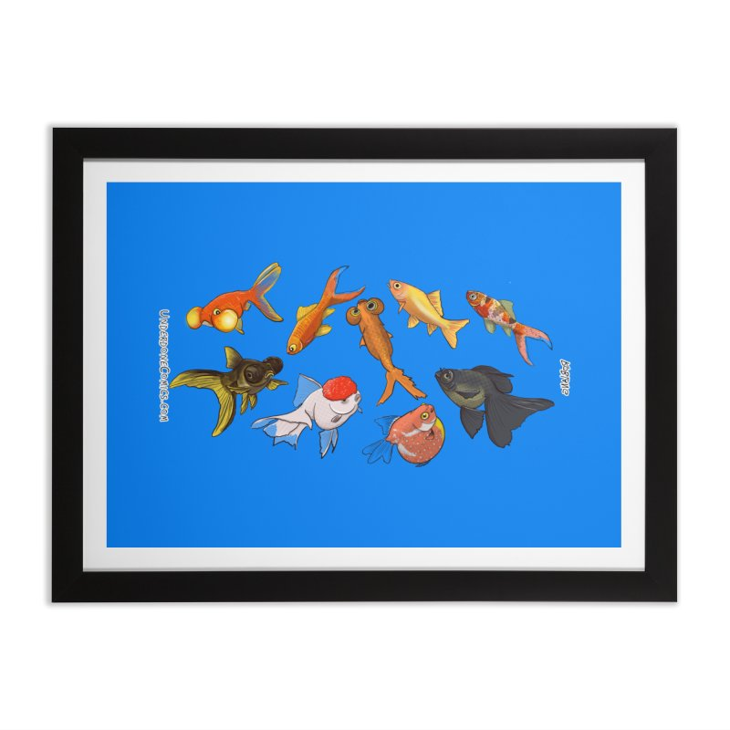 Some Fancy Goldfish Home Framed Fine Art Print by The Underdone Comics Shop